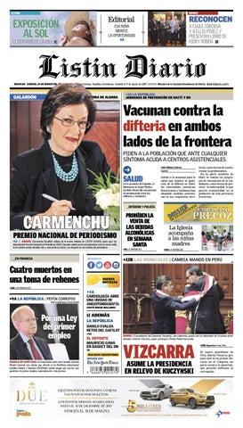 f3e65031d6 LD 24-03-2018 by Listín Diario - issuu