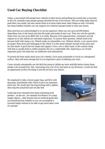 Used Car Buying Checklist By Edutechfield Issuu
