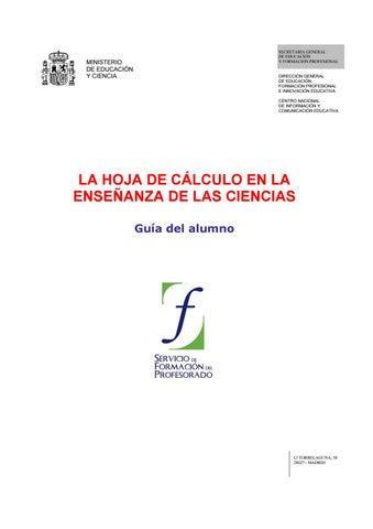 Mec curso hoja de calculo ciencias 200609 by Marga González Mariño ...