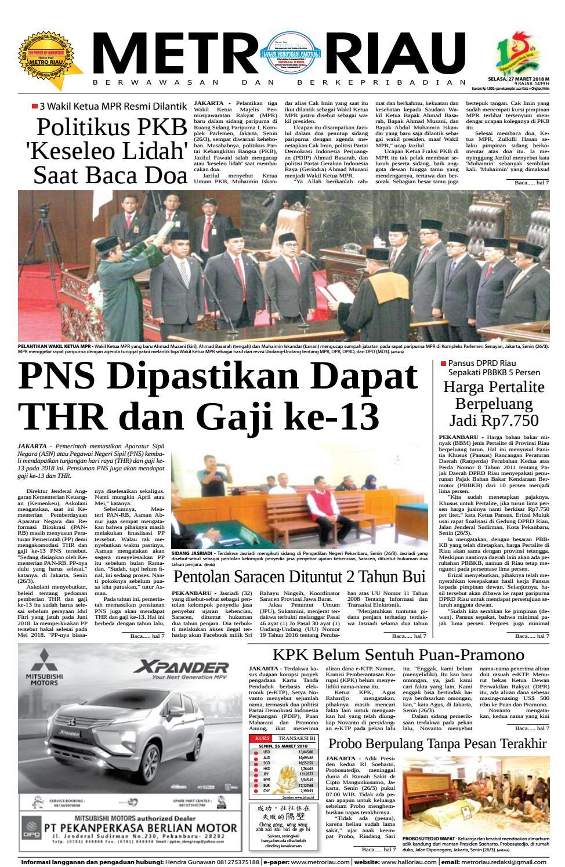 27032018 By Harian Pagi Metro Riau Issuu