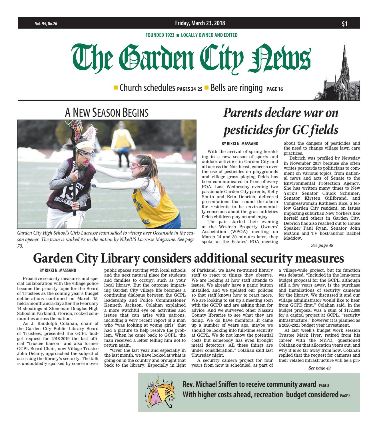 The Garden City News 3 23 18 by Litmor Publishing issuu
