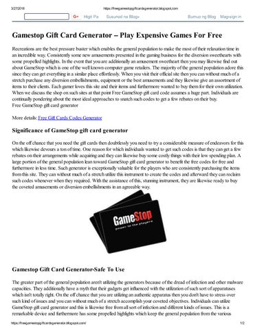 Gamestop gift card generator – play expensive games for free