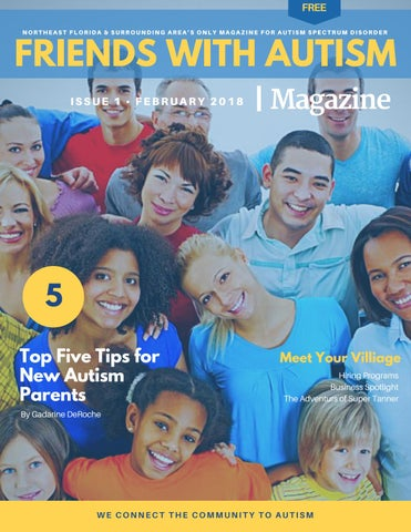 Page 1 of Friends With Autism Magazine, Issue 1, February 2018