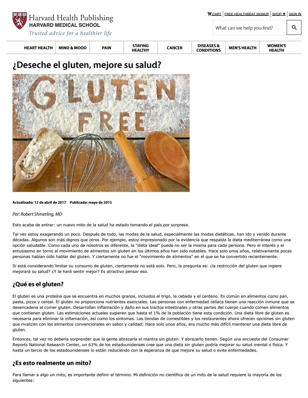 peligros de la dieta gluten free
