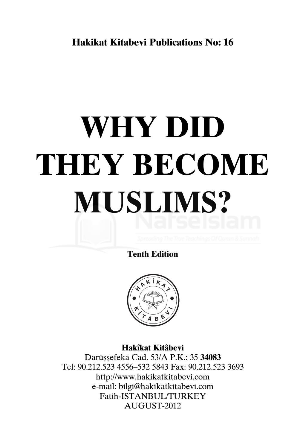 Why did they become muslim by Farhan Ali Attari - issuu