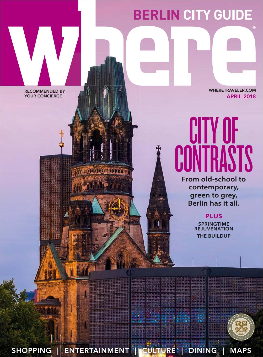 Where Magazine Berlin Apr 2018 by Morris Media Network issuu #2: page 1