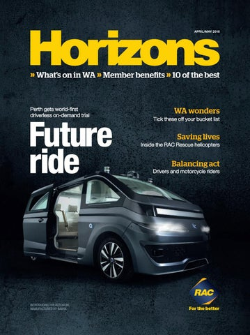 Horizons 2018 April/May by The Royal Automobile Club of WA