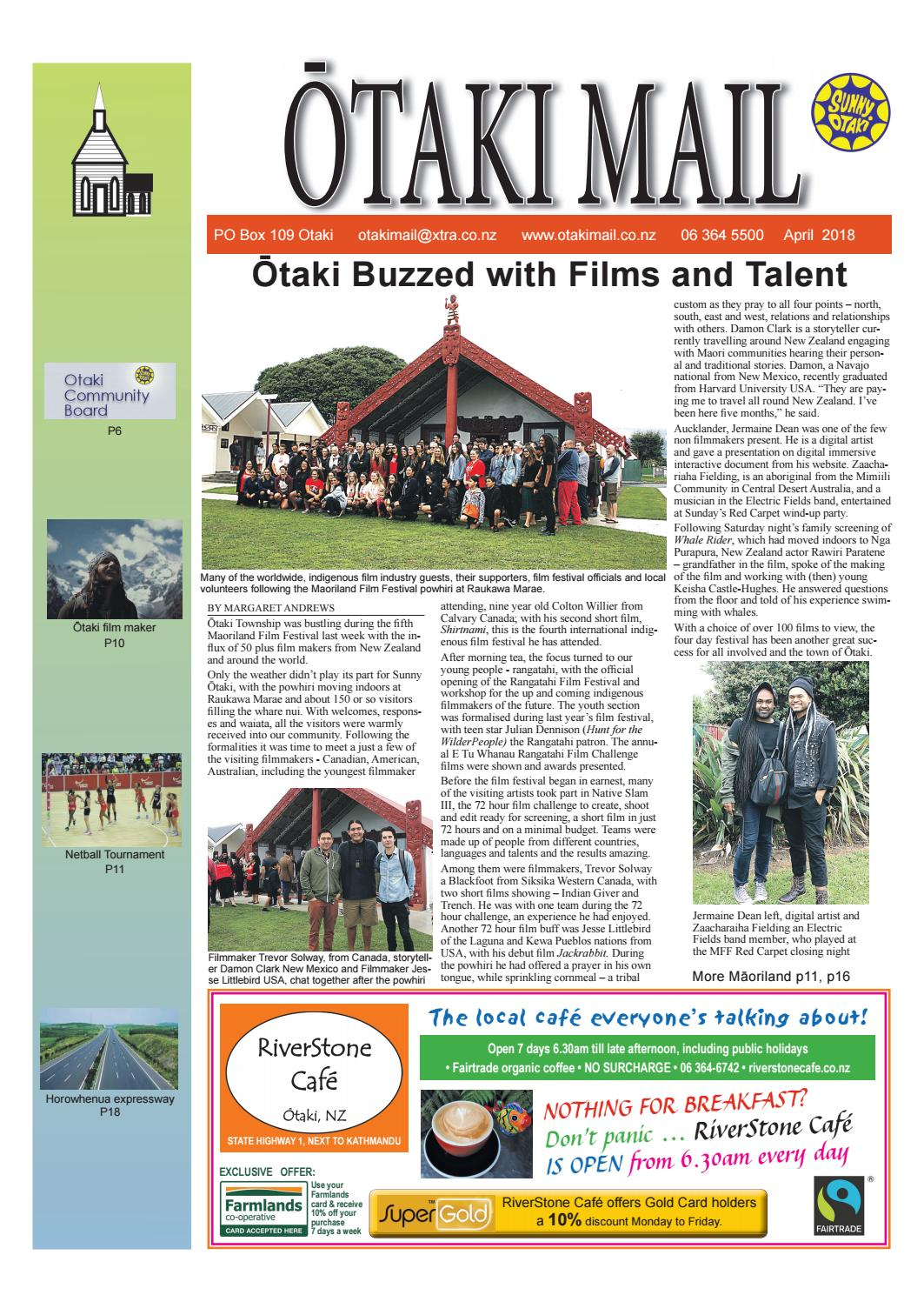 April 2018 Otaki Mail By Otaki Mail Issuu