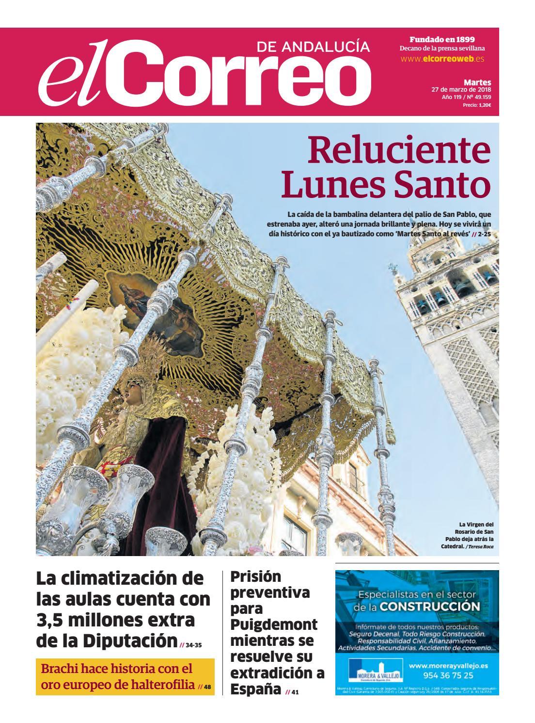 27.03.2018 El Correo de Andalucía by EL CORREO DE ANDALUCÍA S.L. - issuu