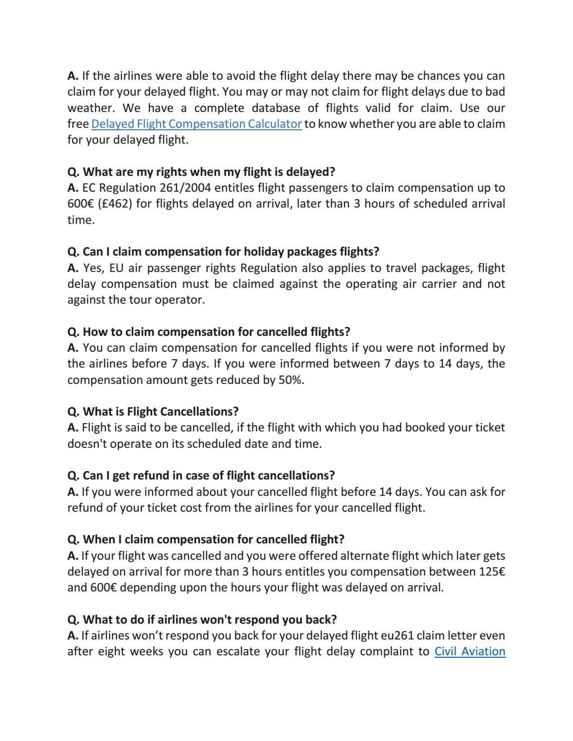 flight compensation letter template by claim flights