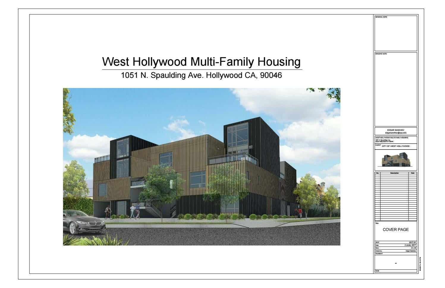 West Hollywood Multi-Family Housing Project by edgarjoels