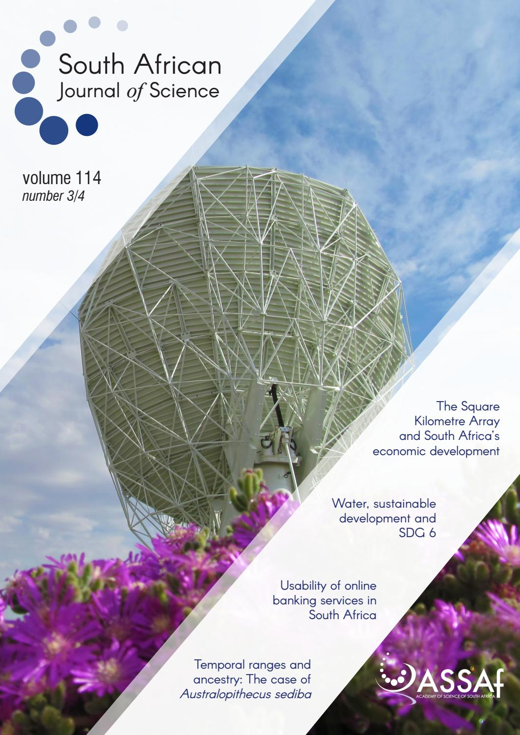 South African Journal of Science Volume 114 Issue 3/4 by