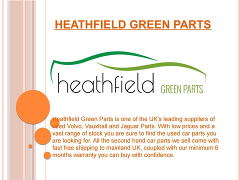 Buy second hand car parts online - Heathfield Motors by