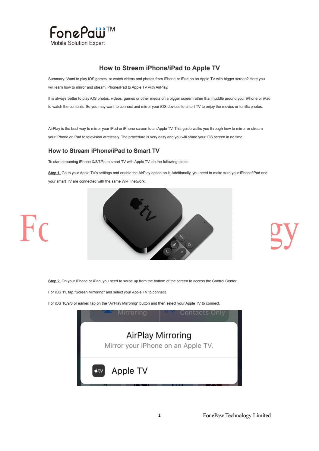 How to Stream iPhone/iPad to Apple TV by Ansel Moore - issuu