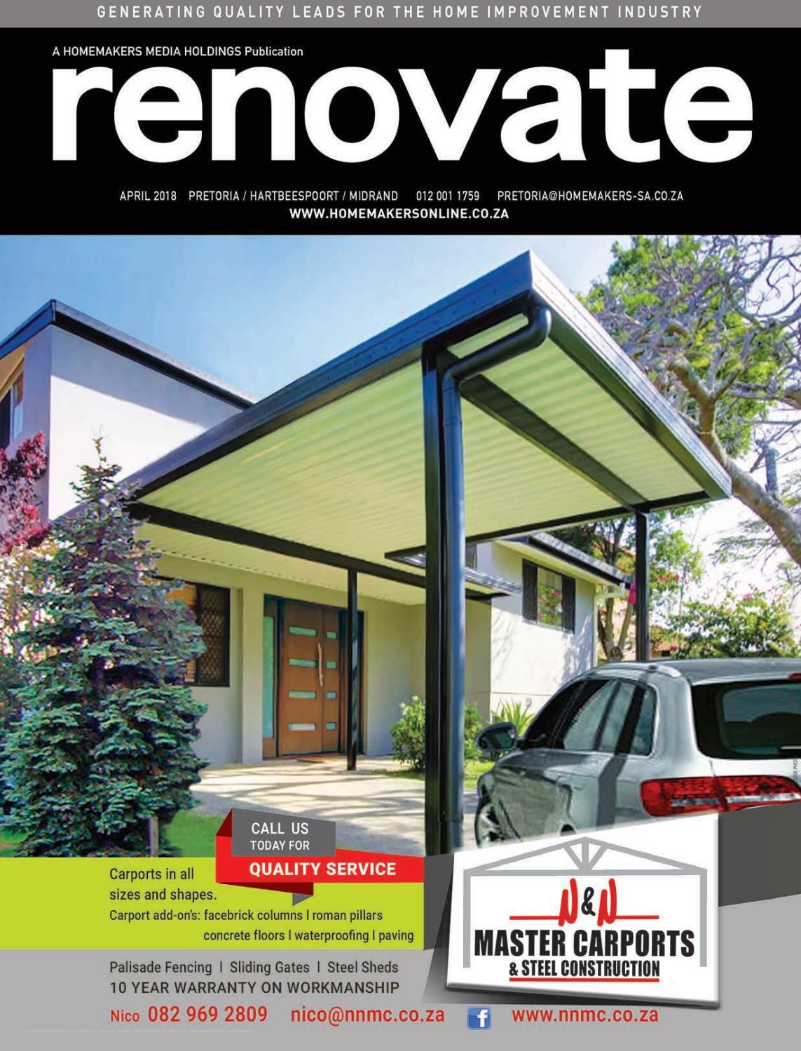 Renovate Pretoria April 2018 By Homemakers Issuu
