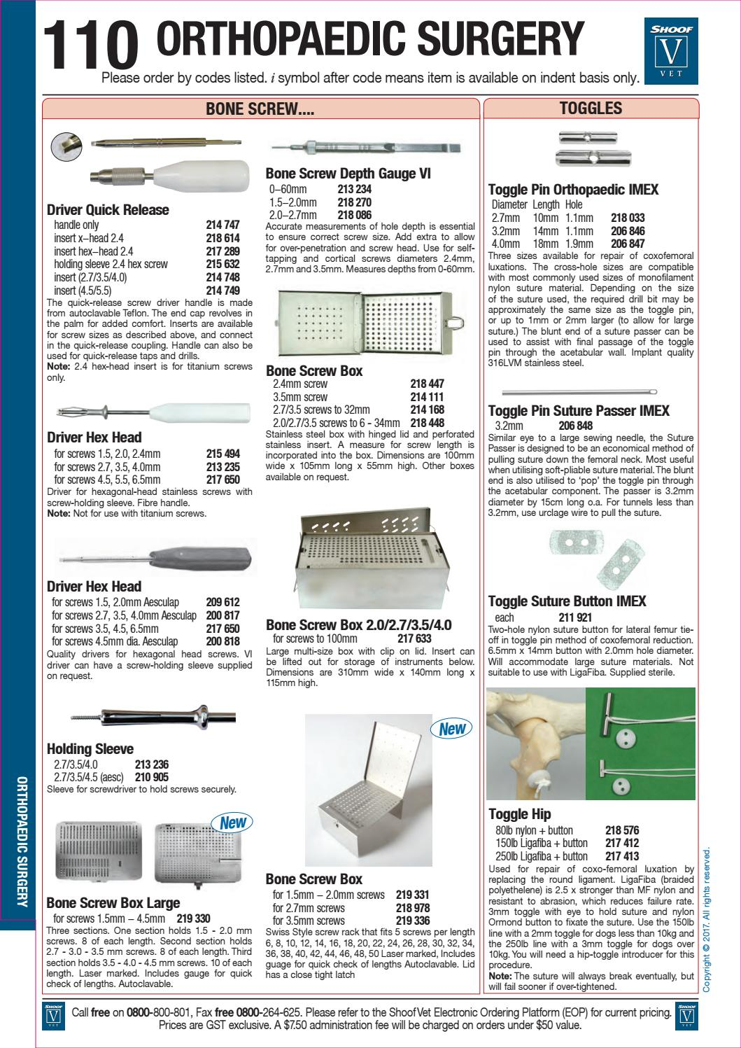Vet 2017 catalogue