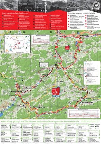 Sauerland Karte Berge.Karte Zum Sauerlandradring By Schmallenberger Sauerland Issuu