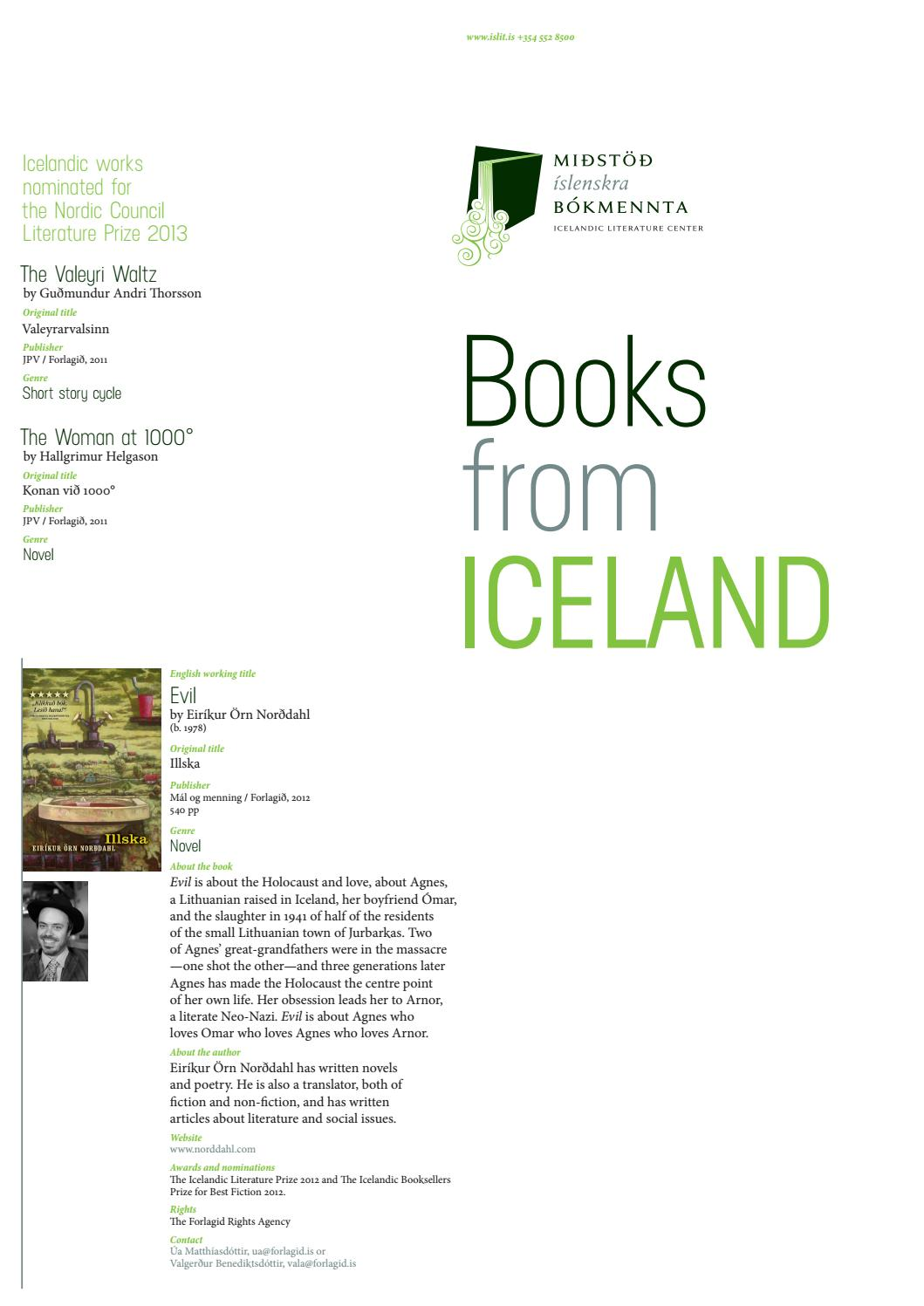 Books from Iceland 2013 by Icelandic Literature Center - issuu