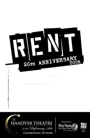 2017-2018 Broadway Series: RENT 20th Anniversary Tour Program by