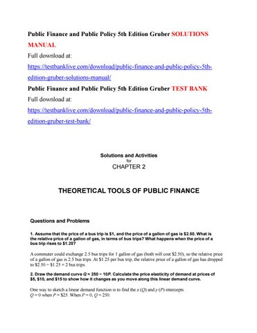 public finance and public policy 5th edition gruber solutions manual rh issuu com Treasury Finance Manual public finance and public policy jonathan gruber solutions manual