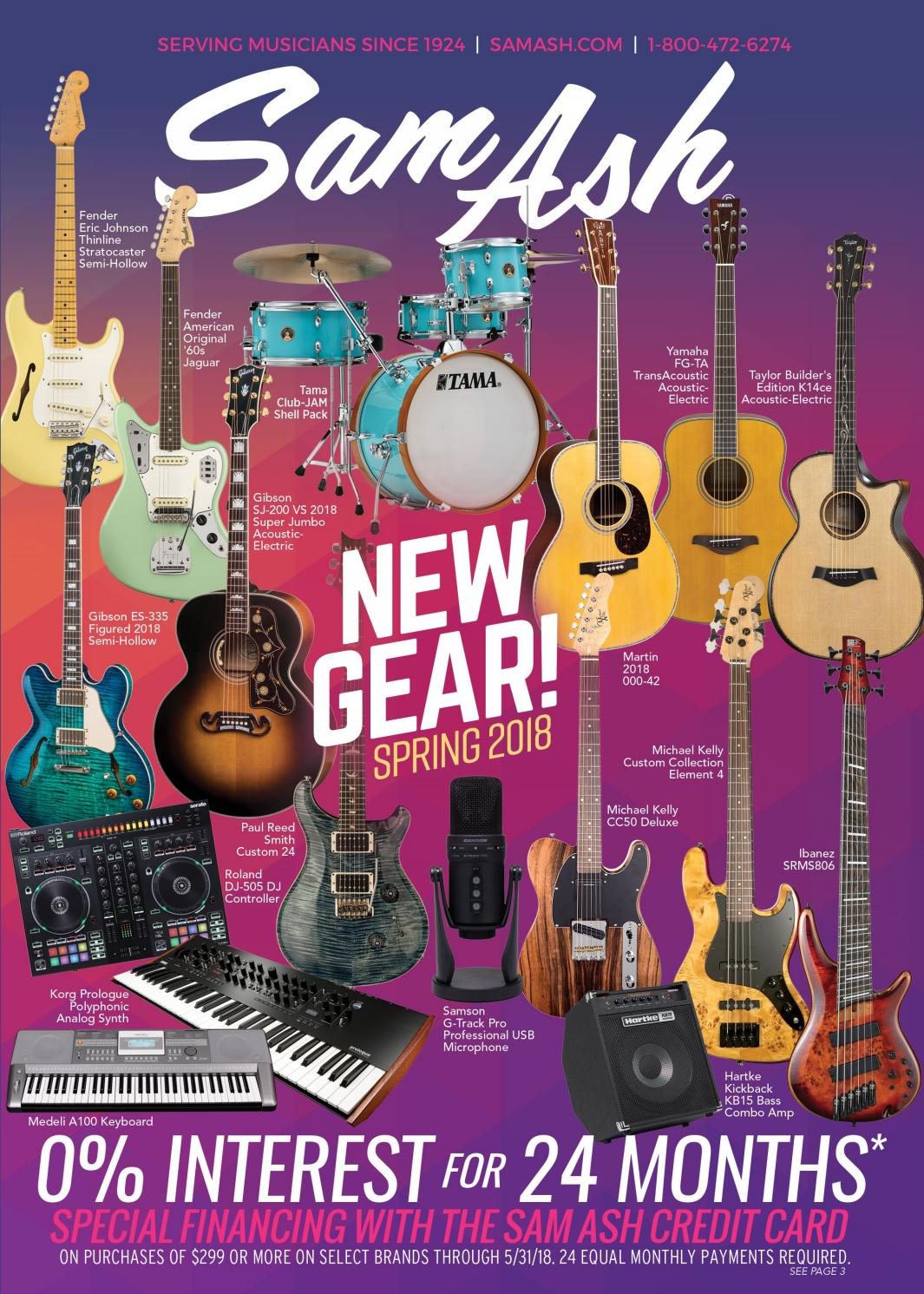 Spring 2018 Sam Ash Gear Guide By Music Corp Issuu 1 Dimebucker Humbucker Volume Tone 3 Way Switch Wiring Diagram