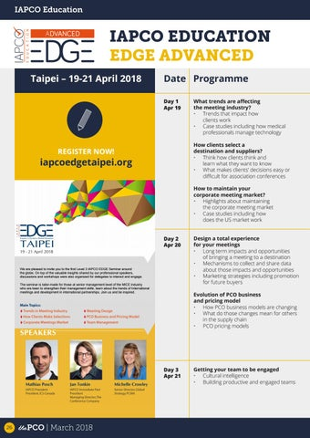 Page 26 of IAPCO EDGE Taipei Advanced Seminar