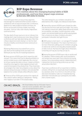 Page 5 of PCMA Column – RIP Expo Revenue