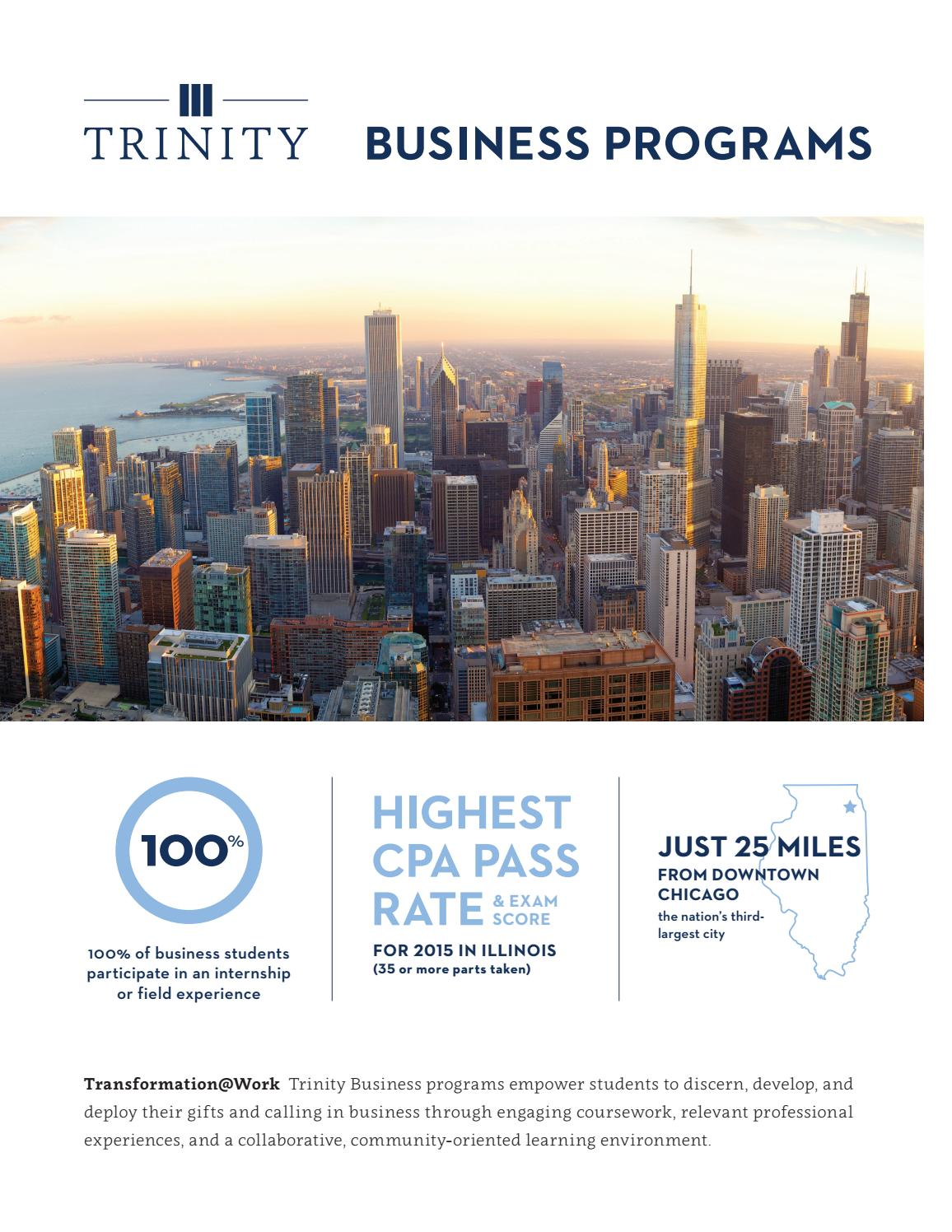 Trinity Christian College Business Department Brochure by