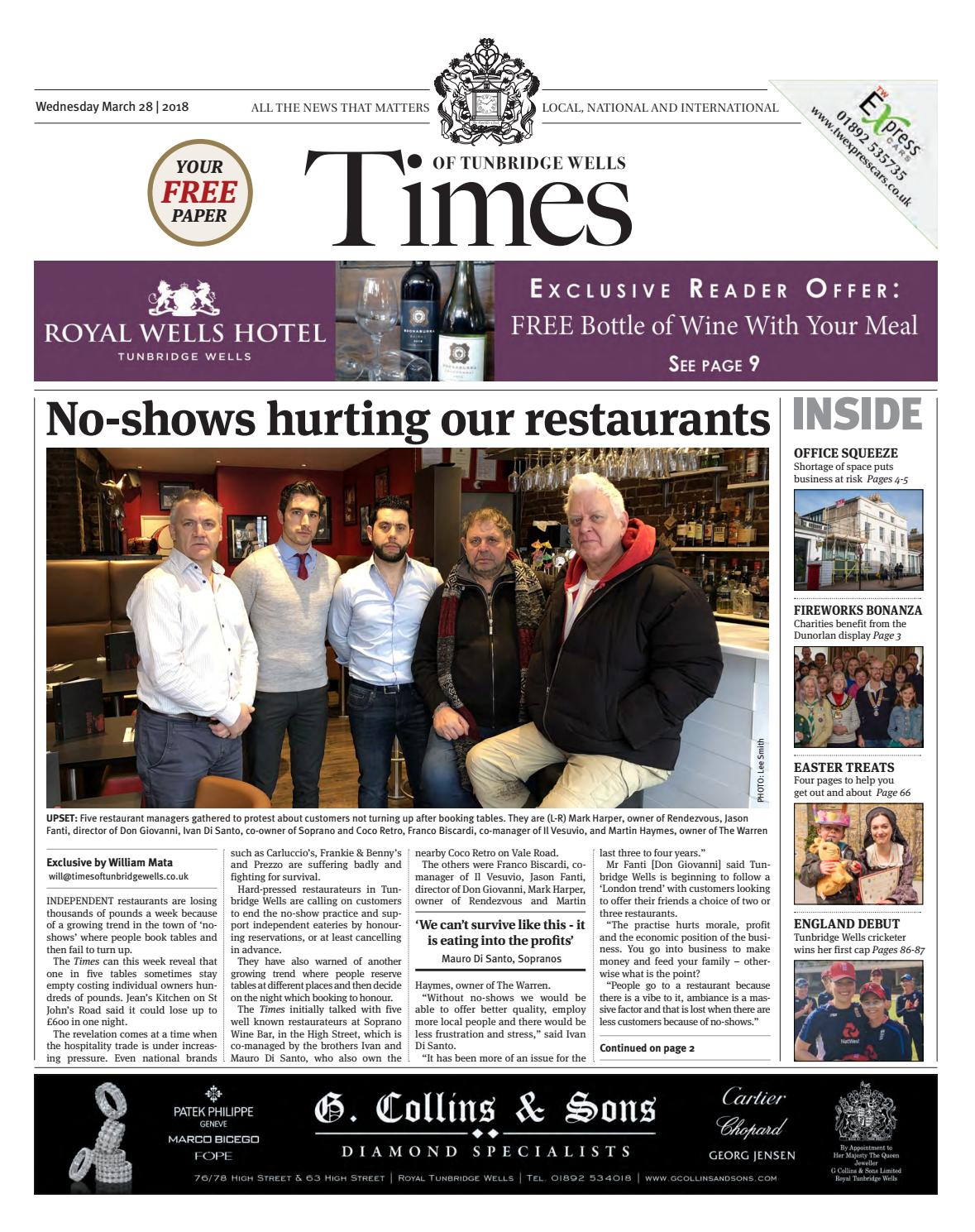 Times of Tunbridge Wells 28th March 2018 by One Media - issuu