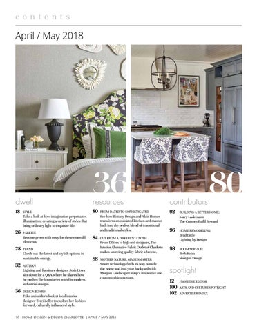 Charlotte April May 2018 By Home Design Decor Magazine Issuu