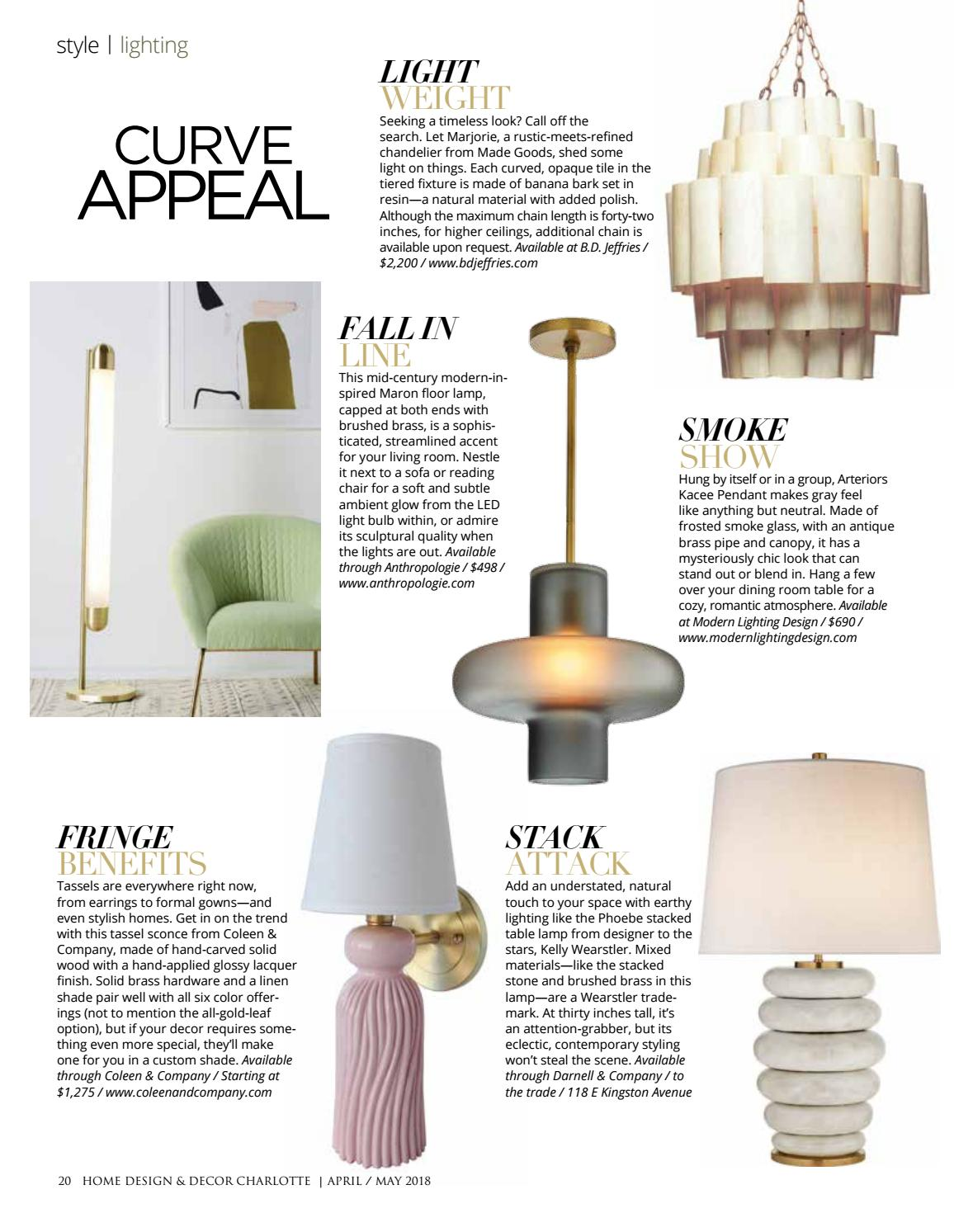 Charlotte April May 2018 by Home Design & Decor Magazine - issuu