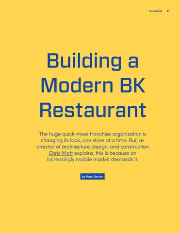 Page 61 of Building a Modern BK Restaurant