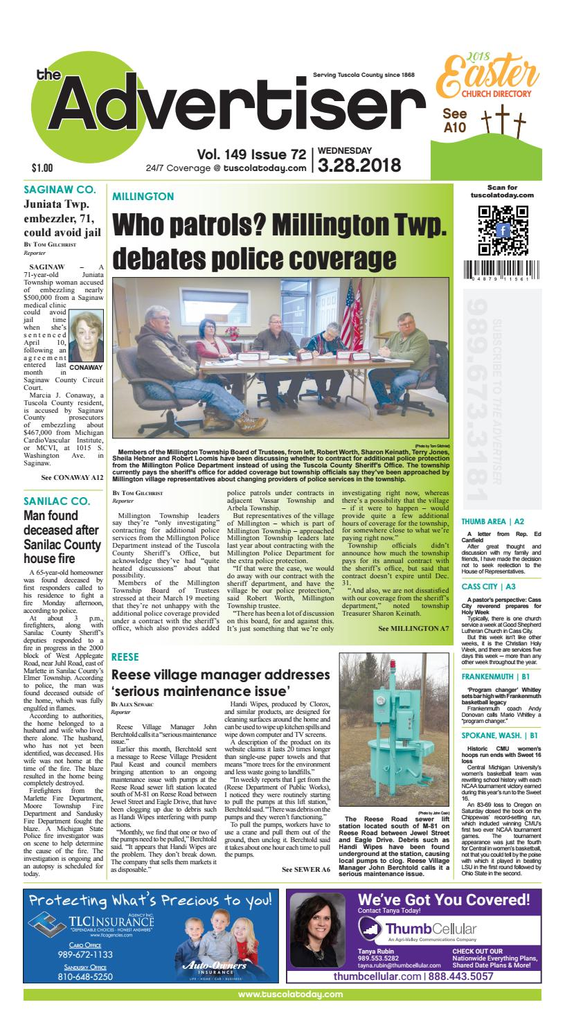 Tca 3 28 18 All Pages By Tuscola County Advertiser Issuu