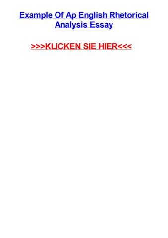 Example Of Ap English Rhetorical Analysis Essay KLICKEN SIE HIER Ratzeburg Javascript Und Xml War