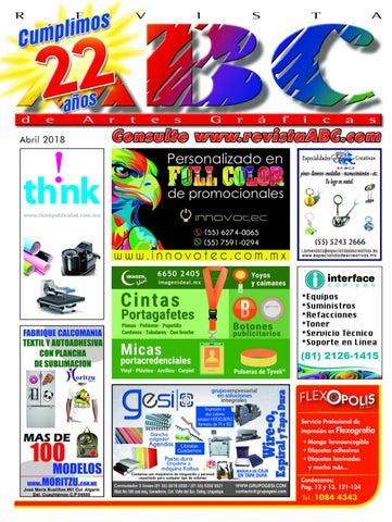 e731f784962a Revista ABC de Artes Gráficas México Abril 2018 by REVISTA ABC - issuu