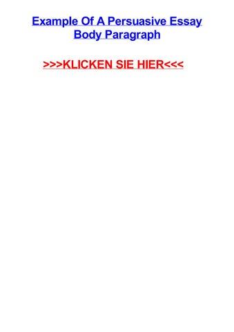 Example Of A Persuasive Essay Body Paragraph KLICKEN SIE HIER Rottingen Bayern Suche Nach Pelz Full