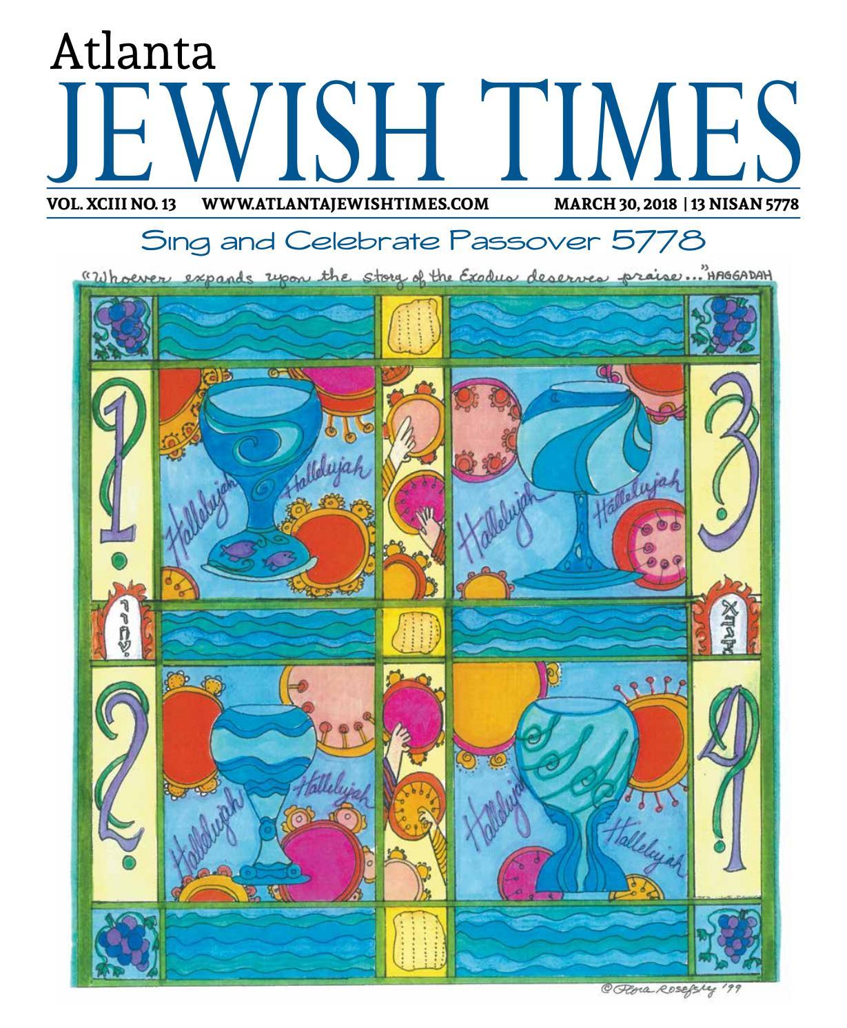 Atlanta Jewish Times, Vol. XCIII No. 13, March 30, 2018 by Atlanta Jewish  Times - issuu 0cf00adbee
