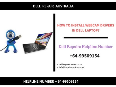 How to install webcam drivers in dell laptop