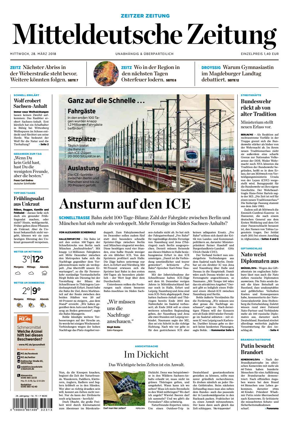 MZ Zeitz Ausgabe 28 03 2018 by Mediengruppe Mitteldeutsche Zeitung ...
