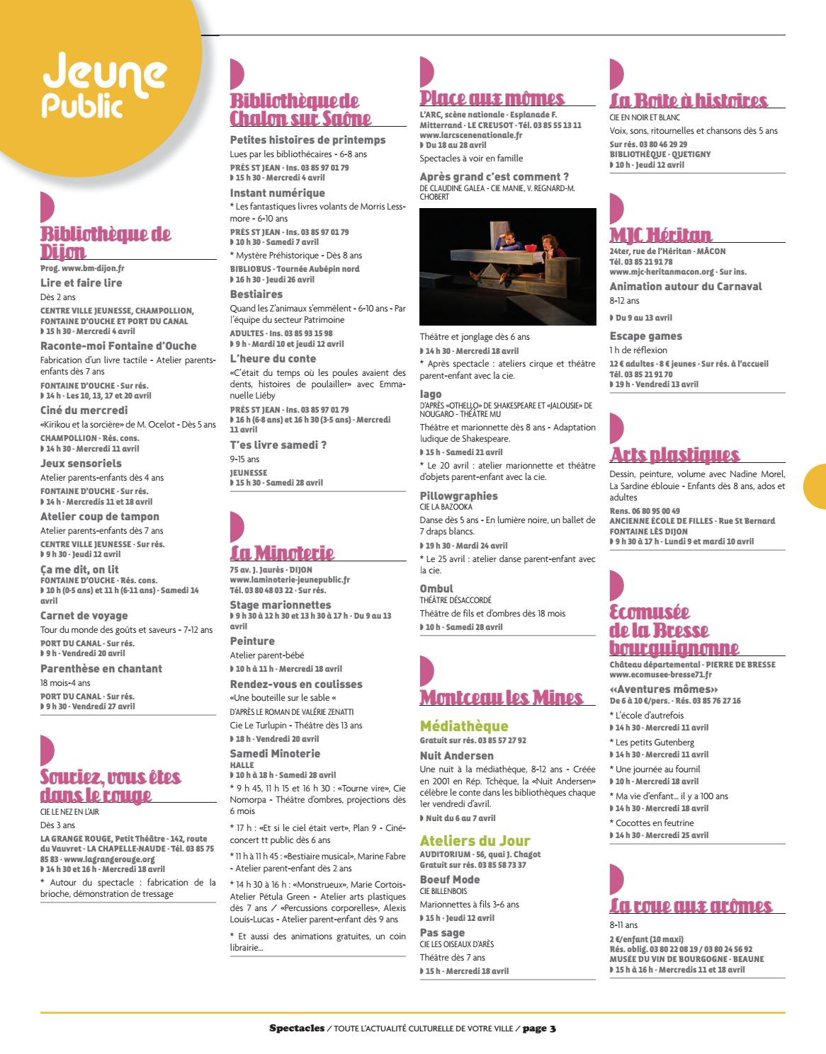 Spectacles Publications Dijon N174 Avril 2018 By