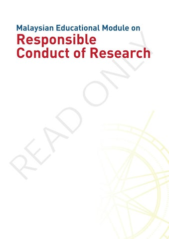 Malaysian Educational Module on Responsible Conduct of