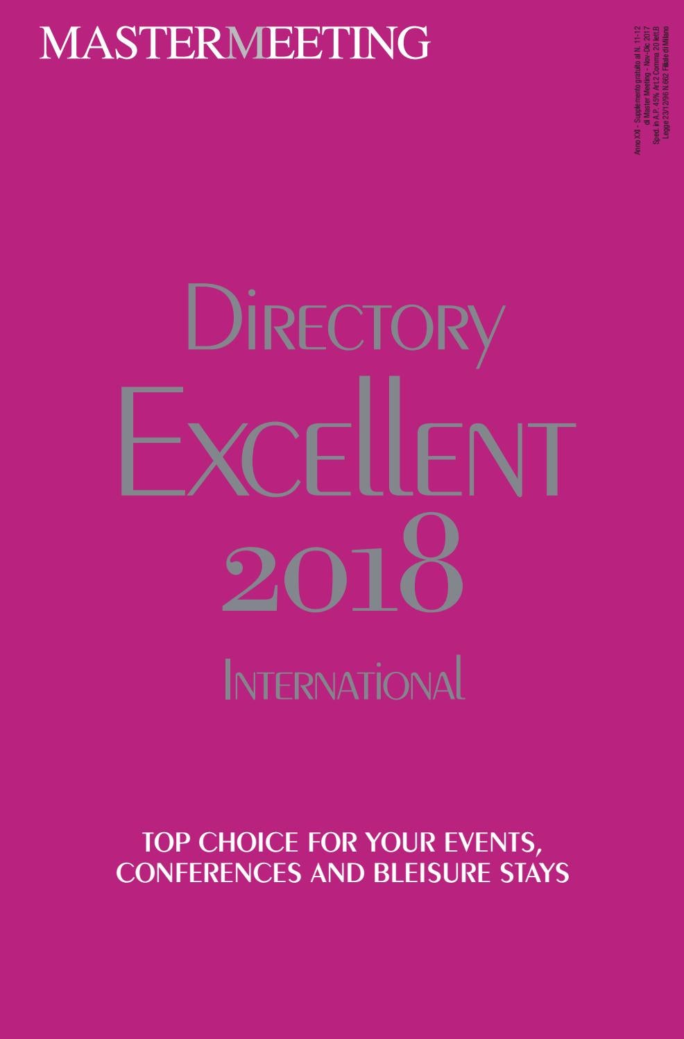Directory Excellent 2018 by Master Meeting - issuu 900256a48f3