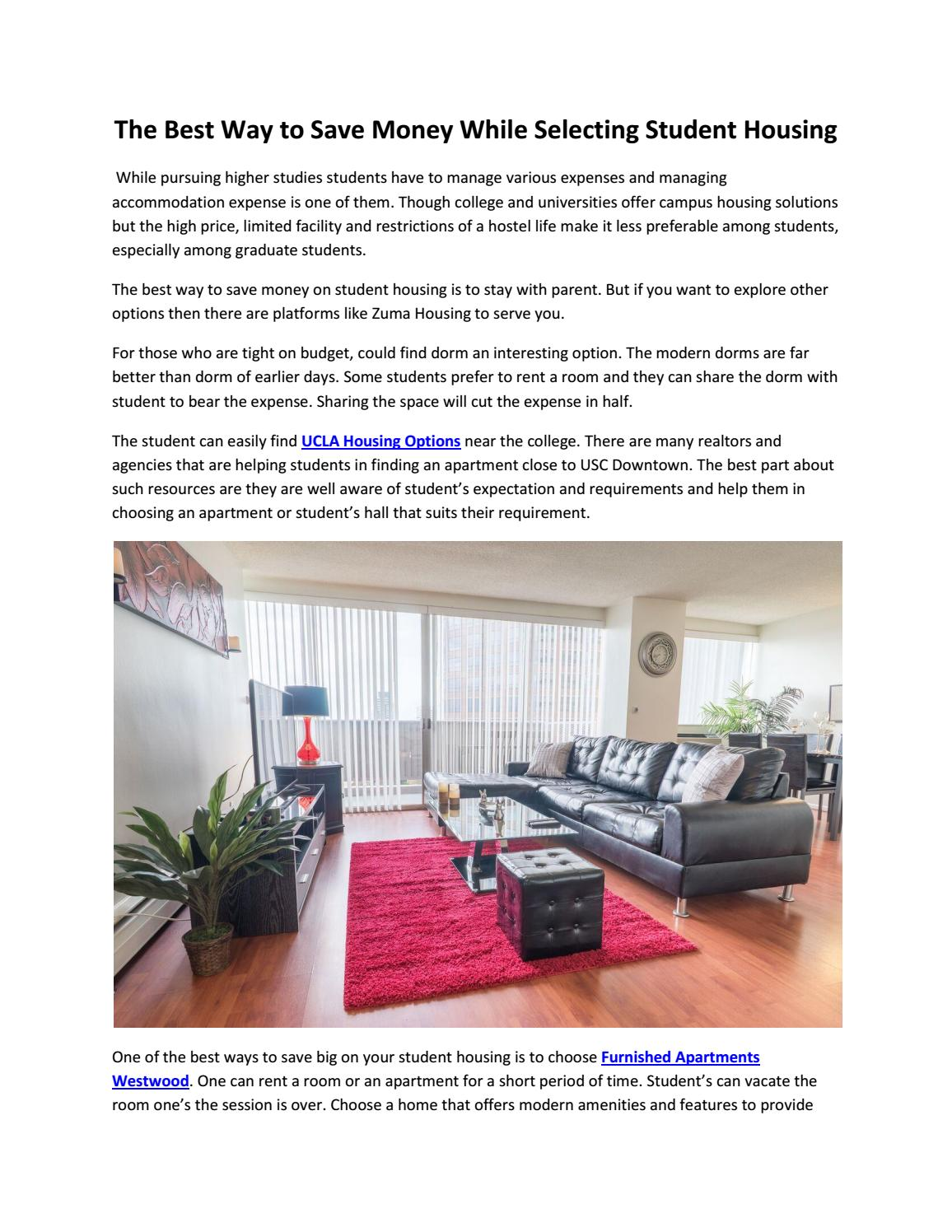 The Best Way To Save Money While Selecting Student Housing By  Mortgagefraudexaminers   Issuu