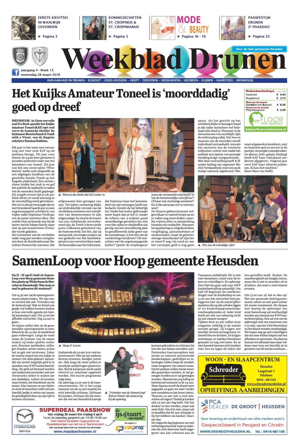 Weekblad Drunen 28-03-2018 by Uitgeverij Em de Jong - issuu a8dce8fb99c