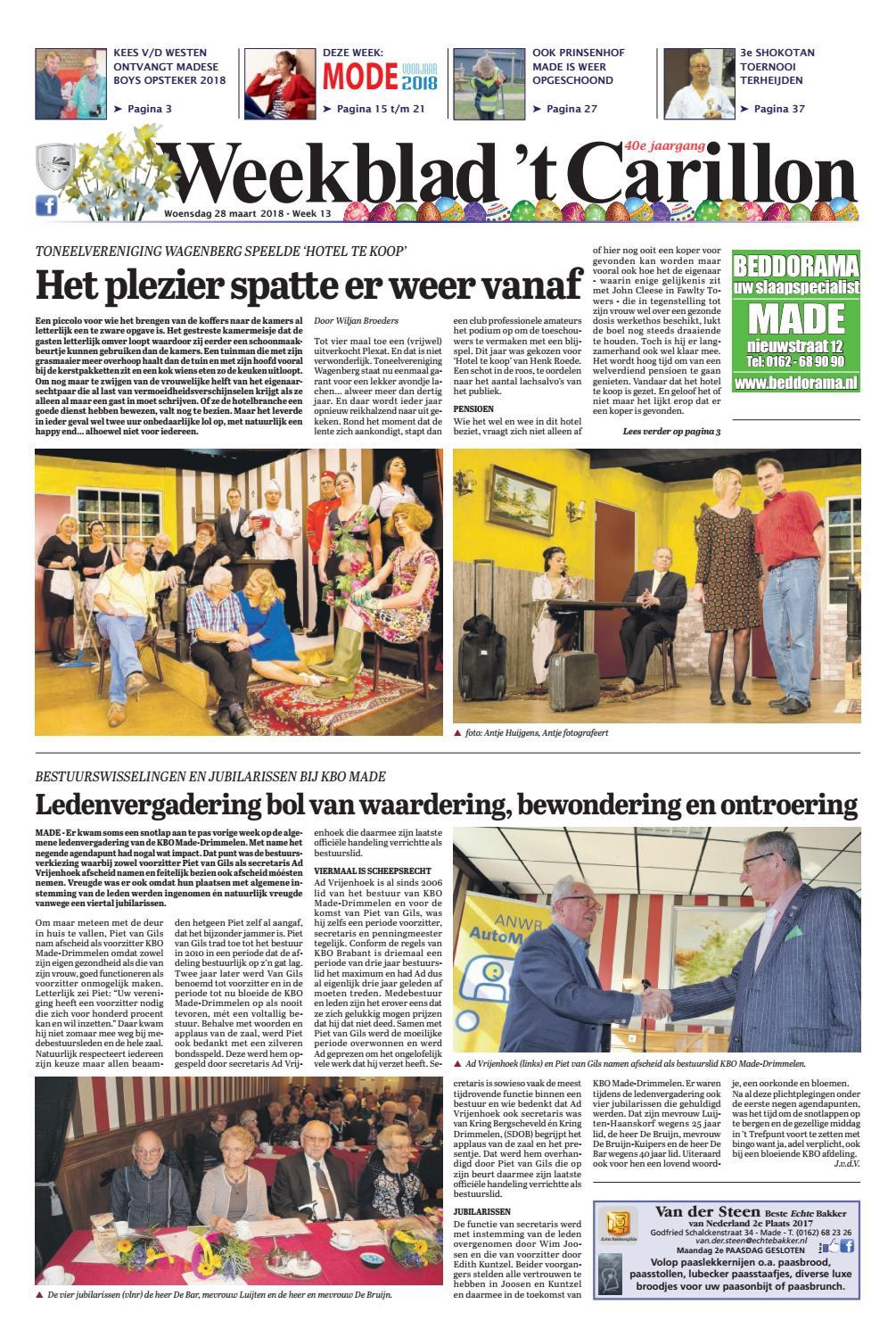 15fada0125a33c Weekblad  t Carillon 28-03-2018 by Uitgeverij Em de Jong - issuu