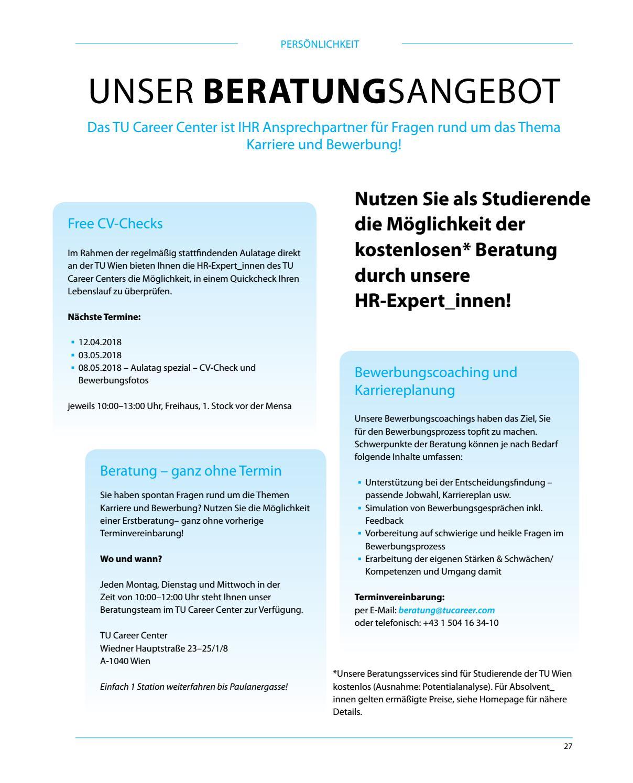 Mein Job Das Berufs Karrieremagazin Fur Studierende Der Tu Wien Sose18 By Tu Career Center Gmbh Issuu
