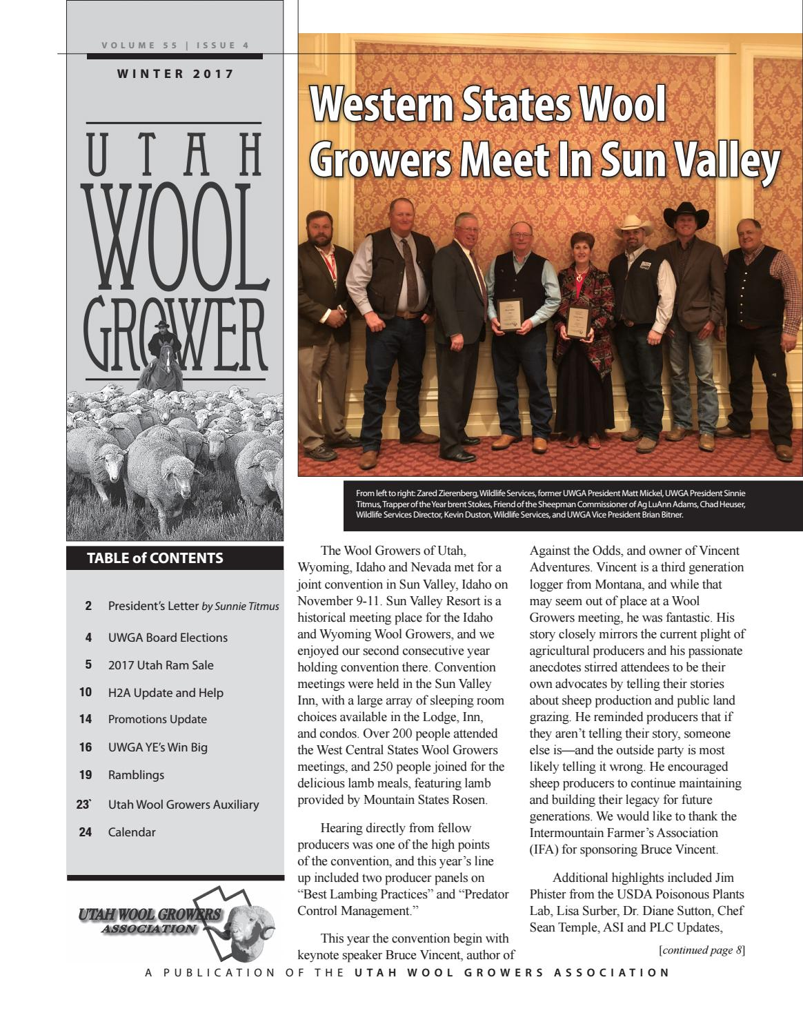 d27b74c32e8 UWGA Winter2017 newsletter by Utah Wool Growers Association - issuu