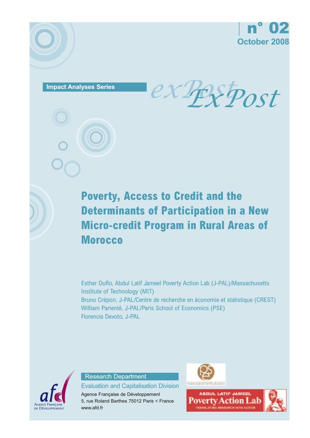 Poverty, Access to Credit and the Determinants of ...