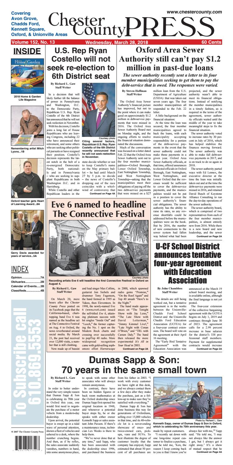 Chester County Press 03-28-2018 Edition by Ad Pro Inc  - issuu