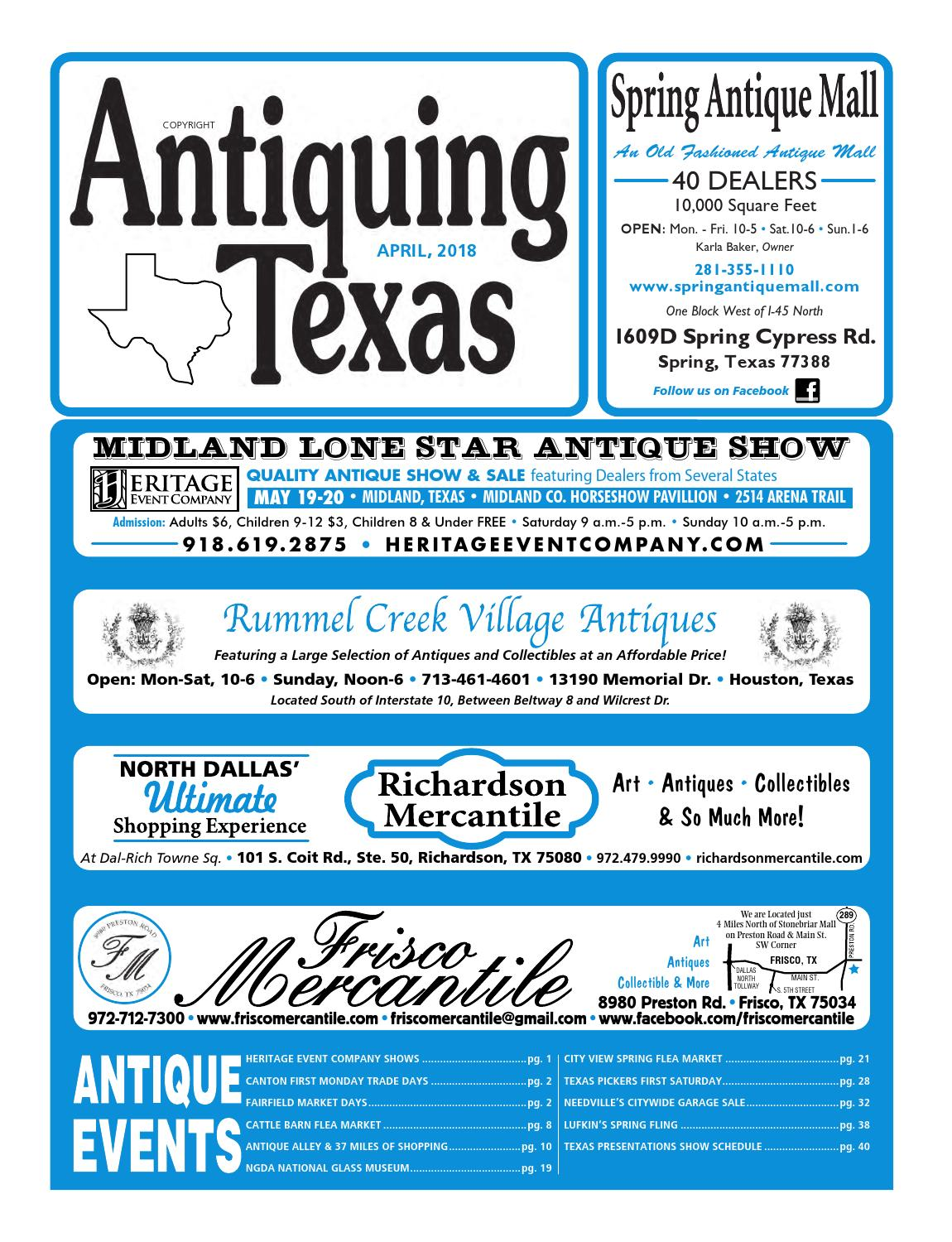 Ant tx upload 4 18 by Antiquing Texas - issuu